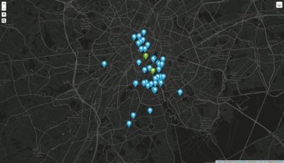 Brussels Restaurants Map made with leaflet mapbox cartodb