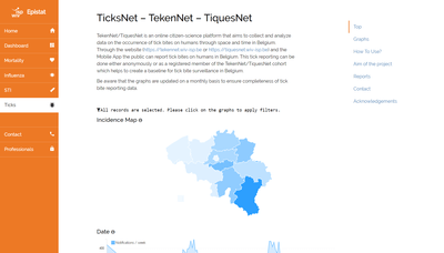 TickNets ticks website screenshot