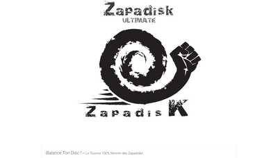 Zapadisk ultiamte frisbee website screenshot